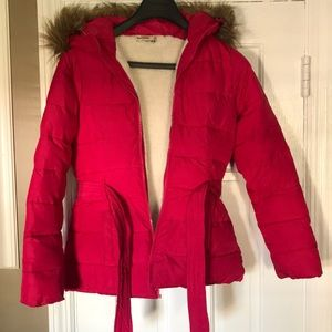 Abercrombie Kids Girls XL Winter Jacket Pink